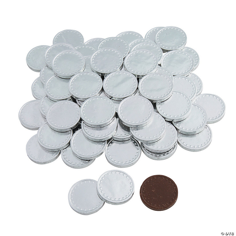 Silver Flat Chocolate Coins