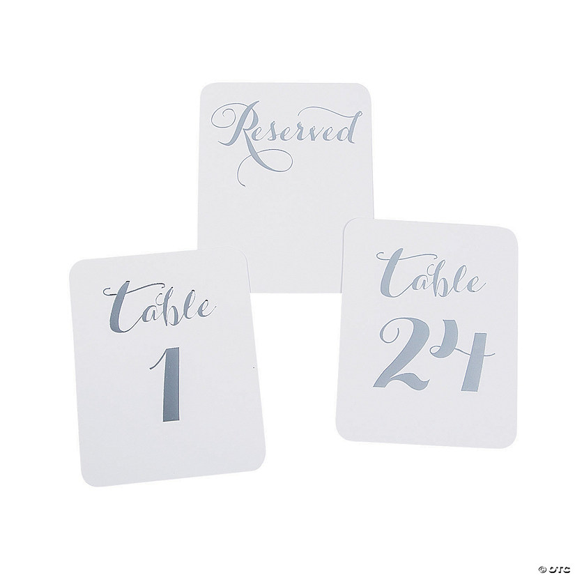 Silver Foil Table Numbers