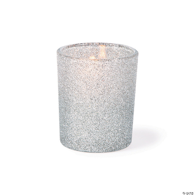 Silver Glitter Votive Candle Holders