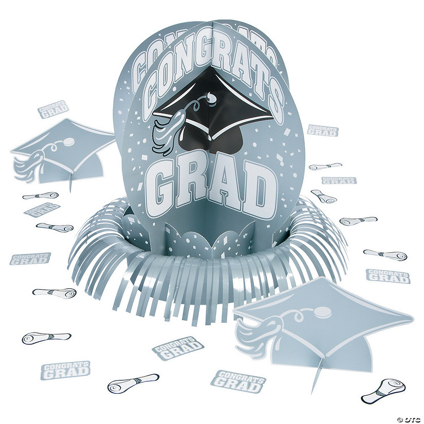 Silver Graduation Table Decorating Kit Audio Thumbnail