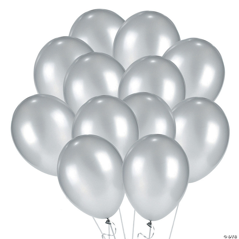"Silver Metallic 11"" Latex Balloons Audio Thumbnail"