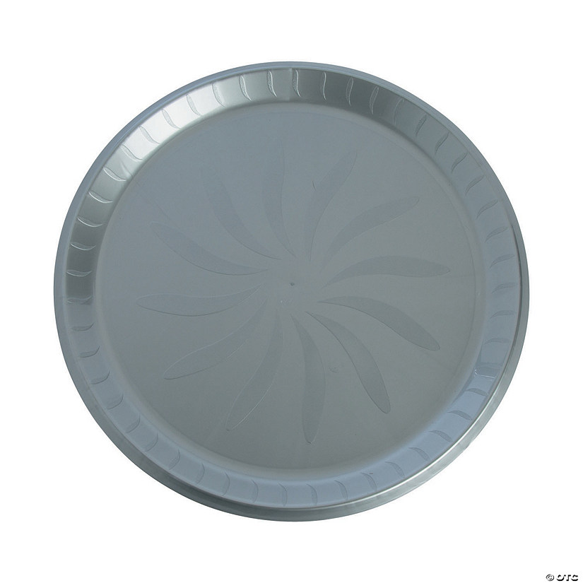 Silver Round Plastic Serving Plate Audio Thumbnail