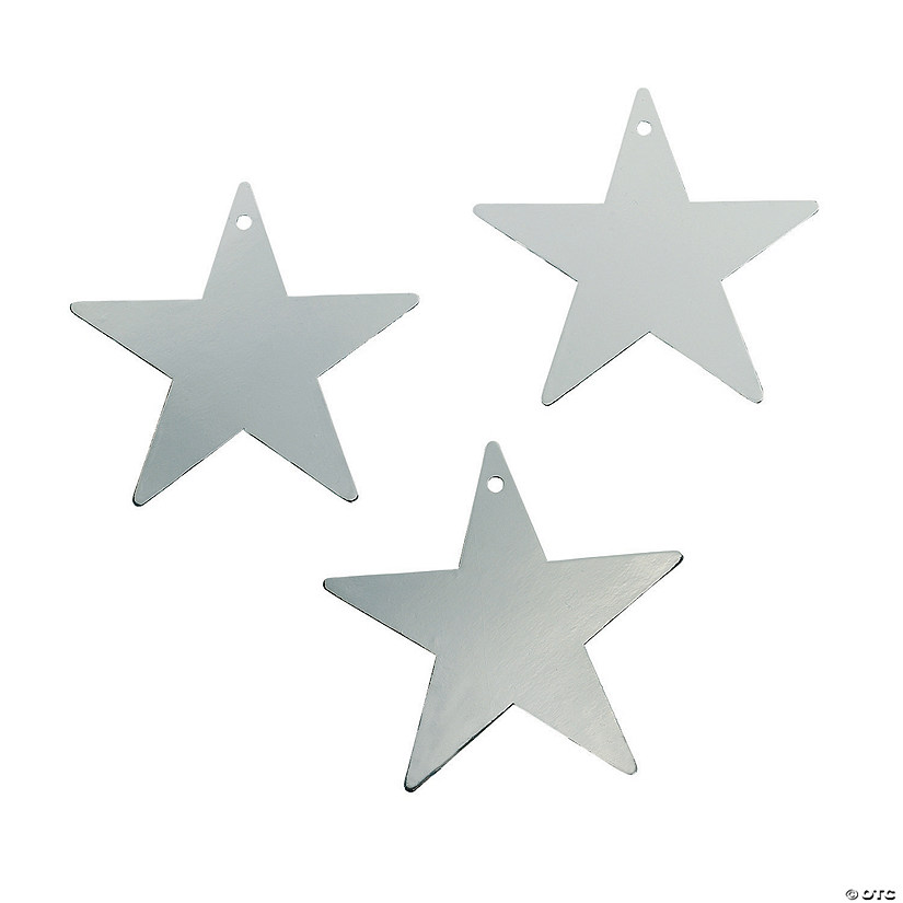 Silver Small Metallic Stars
