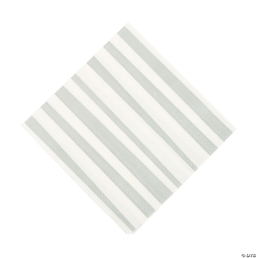 Silver Striped Luncheon Napkins Audio Thumbnail