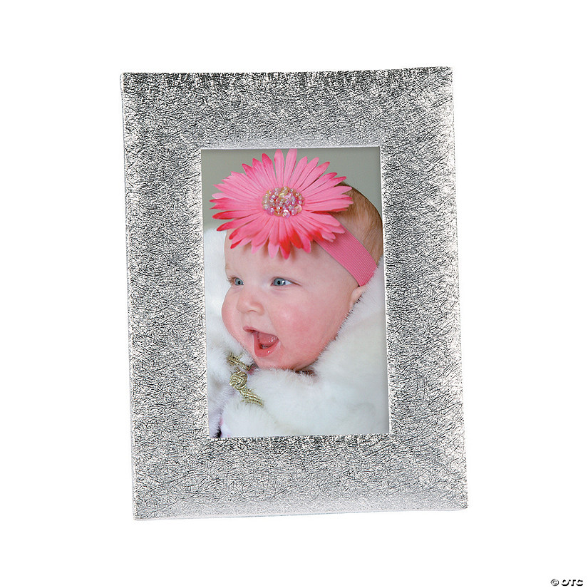 Silver Textured Photo Frames
