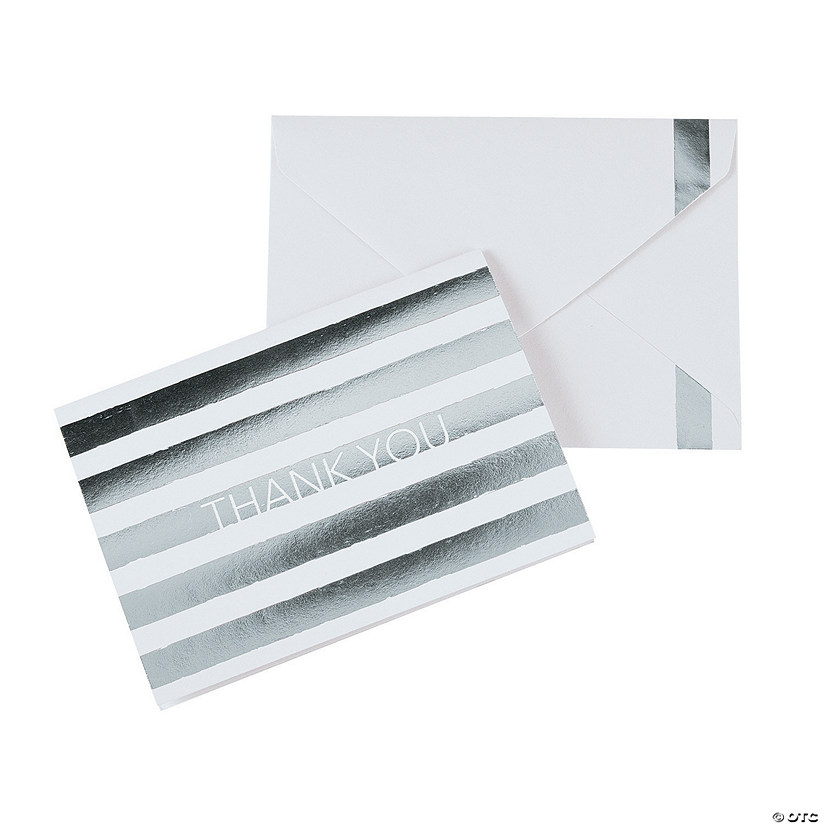 Silver Thank You Cards