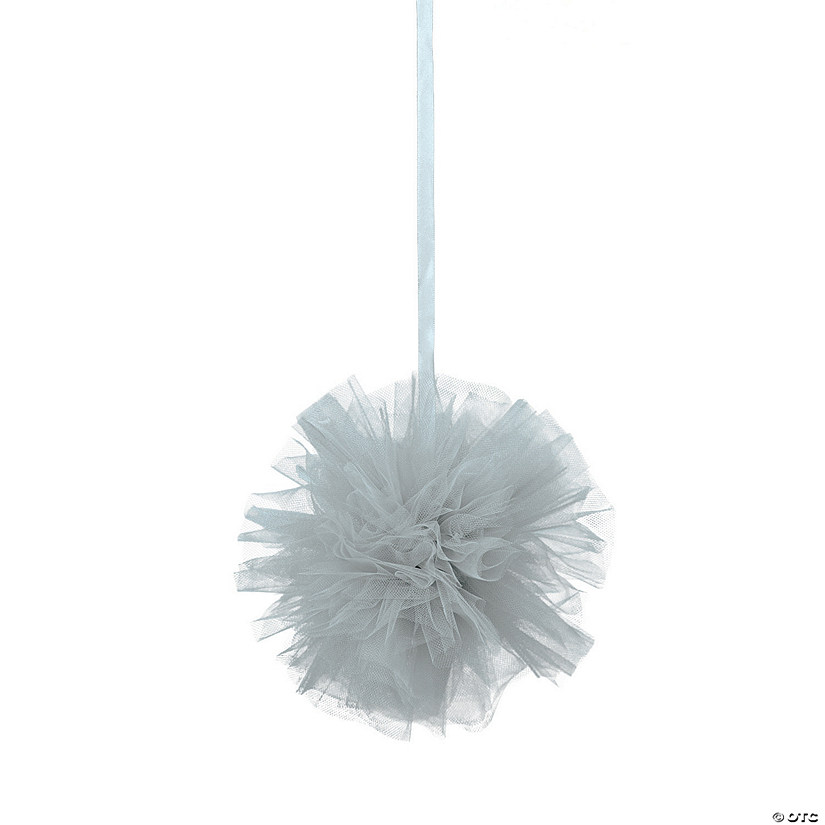 Silver Tulle Pom-Pom Decorations Audio Thumbnail