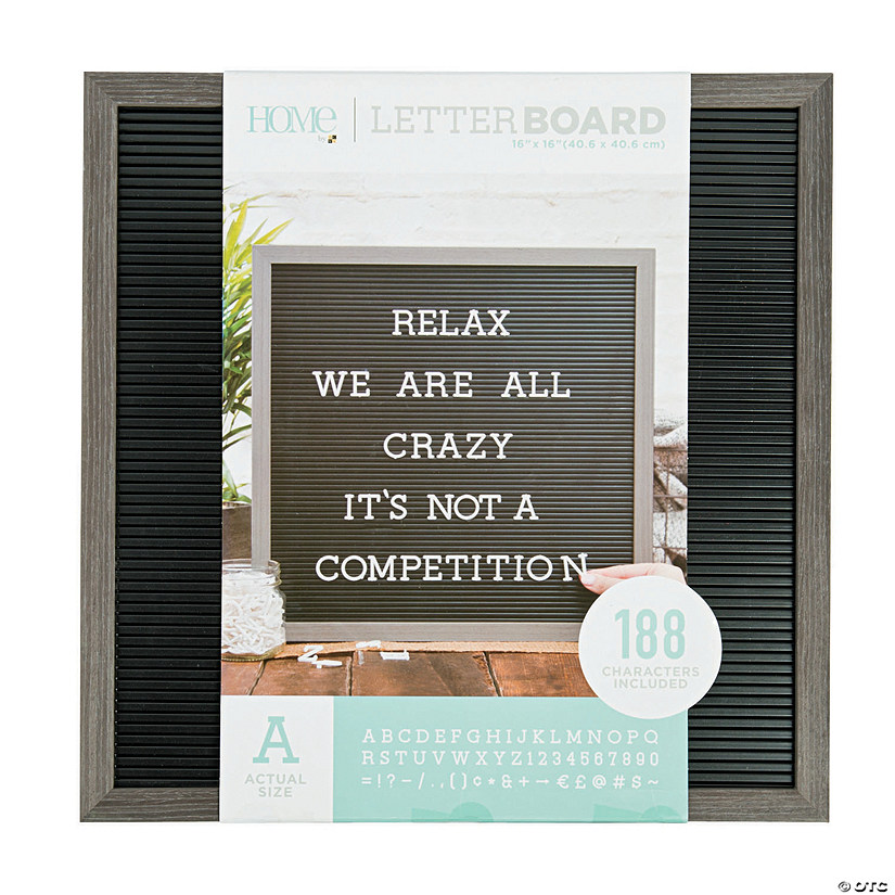 "Silver Walnut Letter Board Kit - 16"" Image Thumbnail"