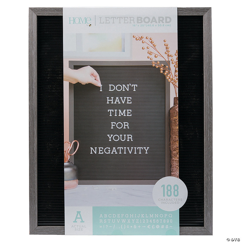 "Silver Walnut Letter Board Kit - 20"" Audio Thumbnail"