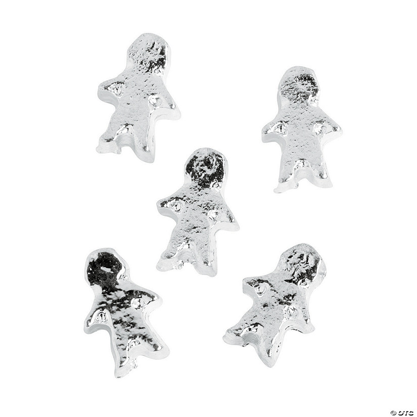 Silvertone Boy Floating Charms - 5mm