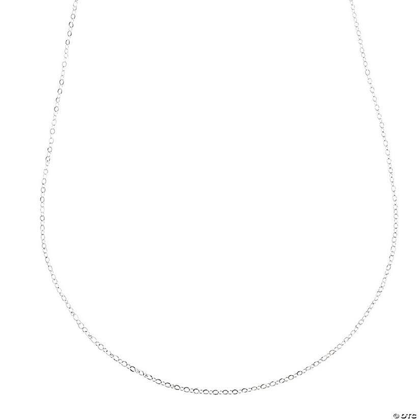 Silvertone Delicate Necklace Chains Image Thumbnail