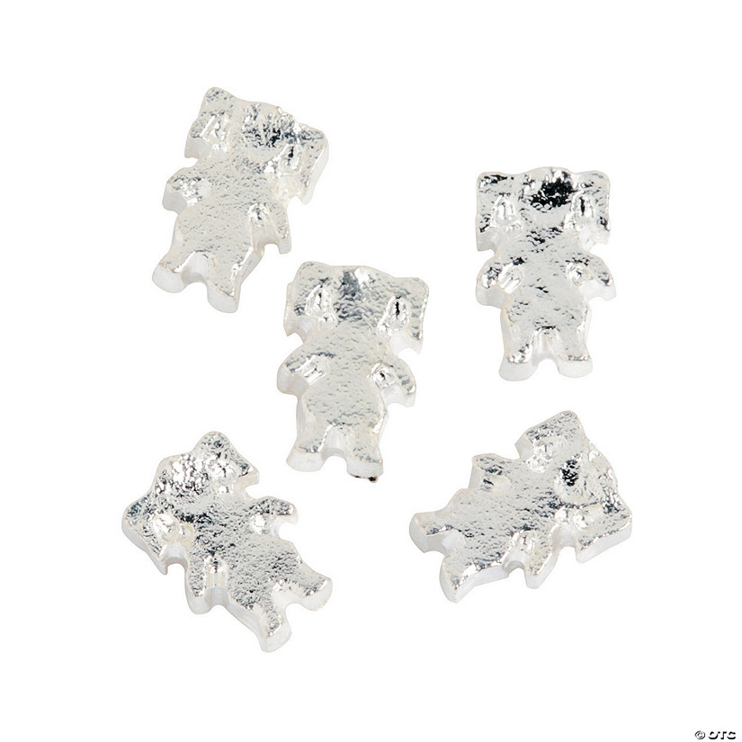 Silvertone Girl Floating Charms - 5mm