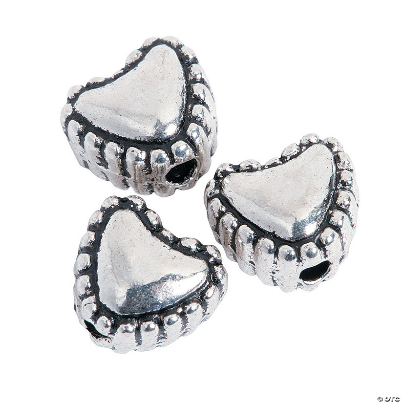 Silvertone Heart Spacer Beads - 6mm Audio Thumbnail