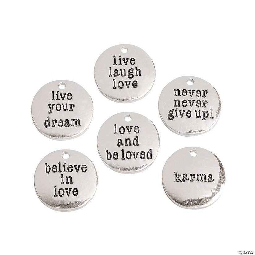 Silvertone Metal Inspirational Sayings Charms Audio Thumbnail