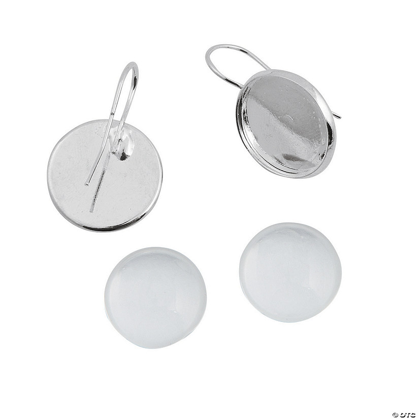 Silvertone Photo Charm Drop Earrings Audio Thumbnail