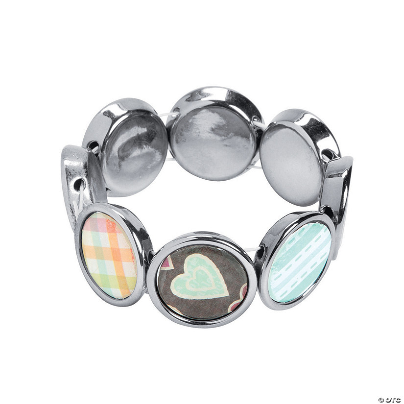 Silvertone Picture Frame Bracelet Craft Kit Discontinued