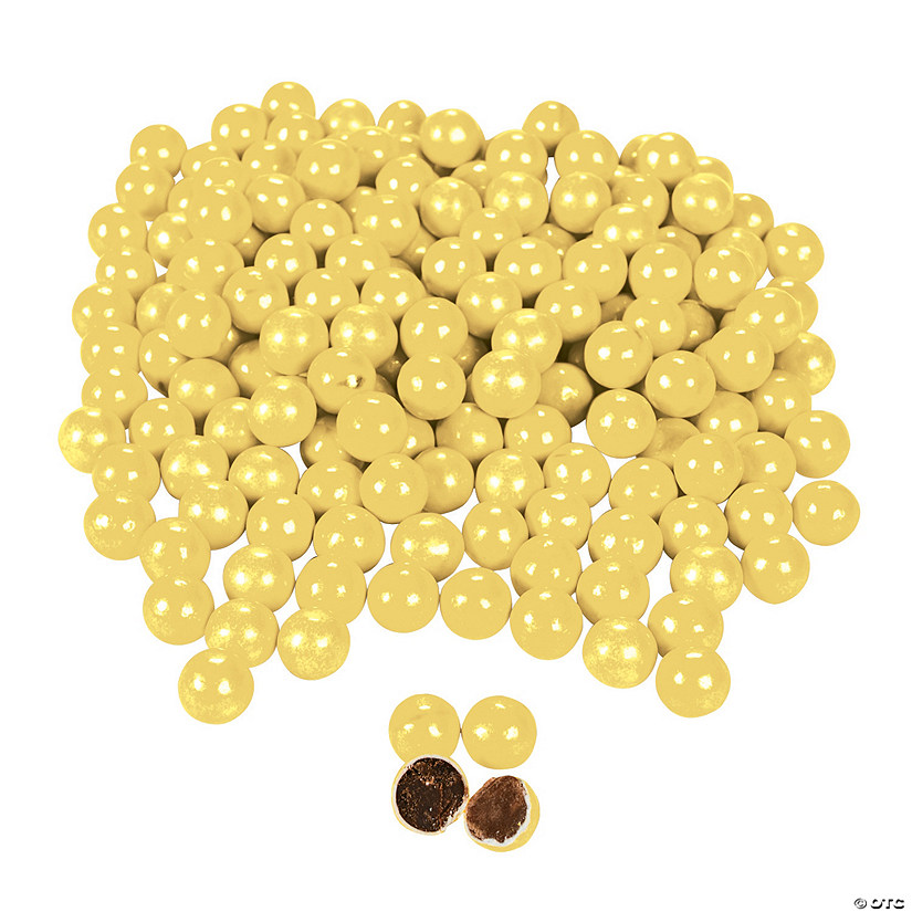 Sixlets<sup>&#174;</sup> Shimmer Yellow Chocolate Candy Image Thumbnail