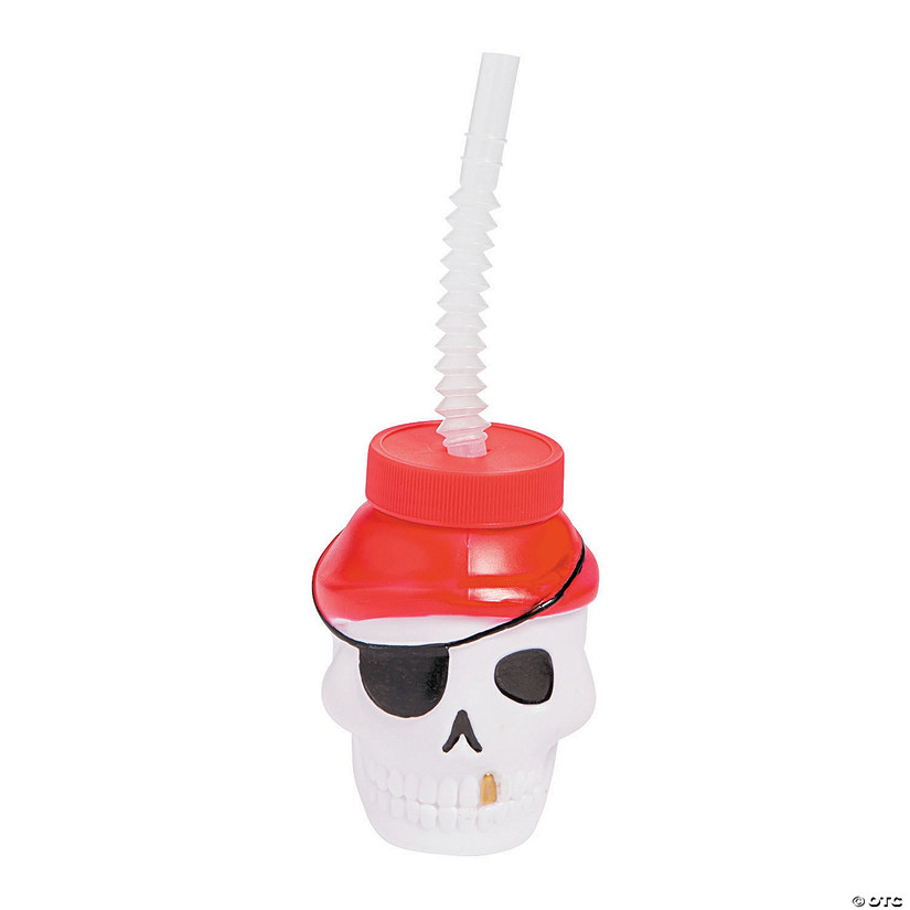 Skull Cups with Straws Image Thumbnail