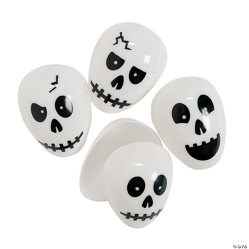 Skull Plastic Easter Eggs - 72 Pc.