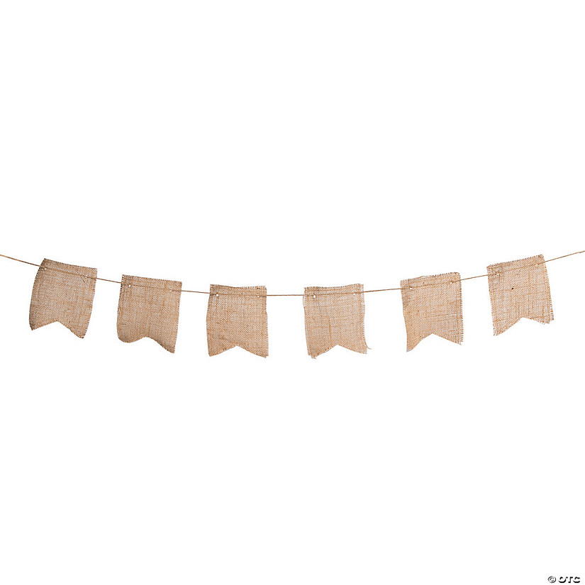 Small Burlap Fishtail Garland