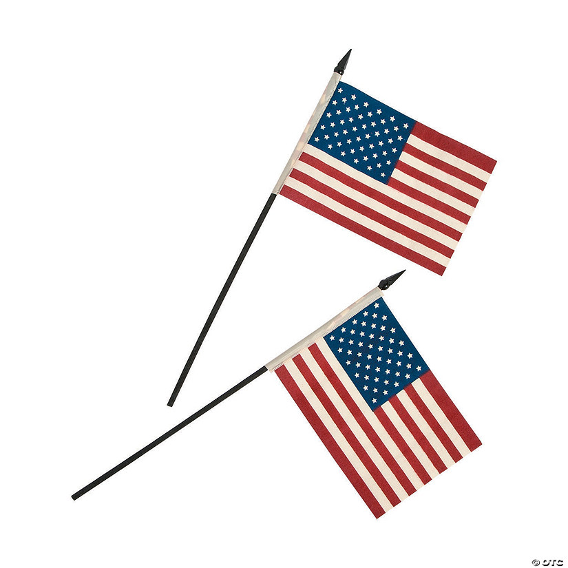 "Small Cloth Americana Flags - 6"" x 4"" Audio Thumbnail"
