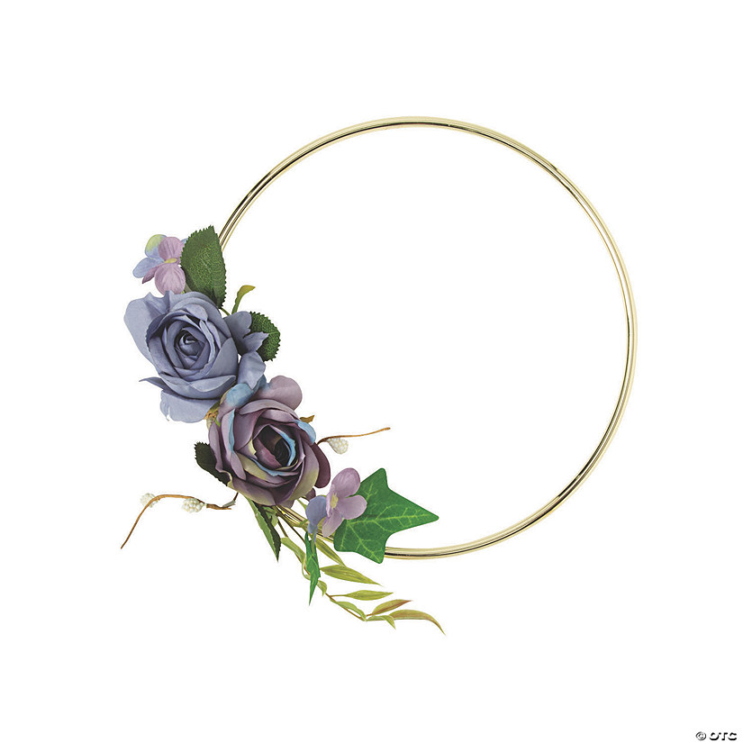 Small Gold Hoop Decoration with Purple Floral Accents Audio Thumbnail