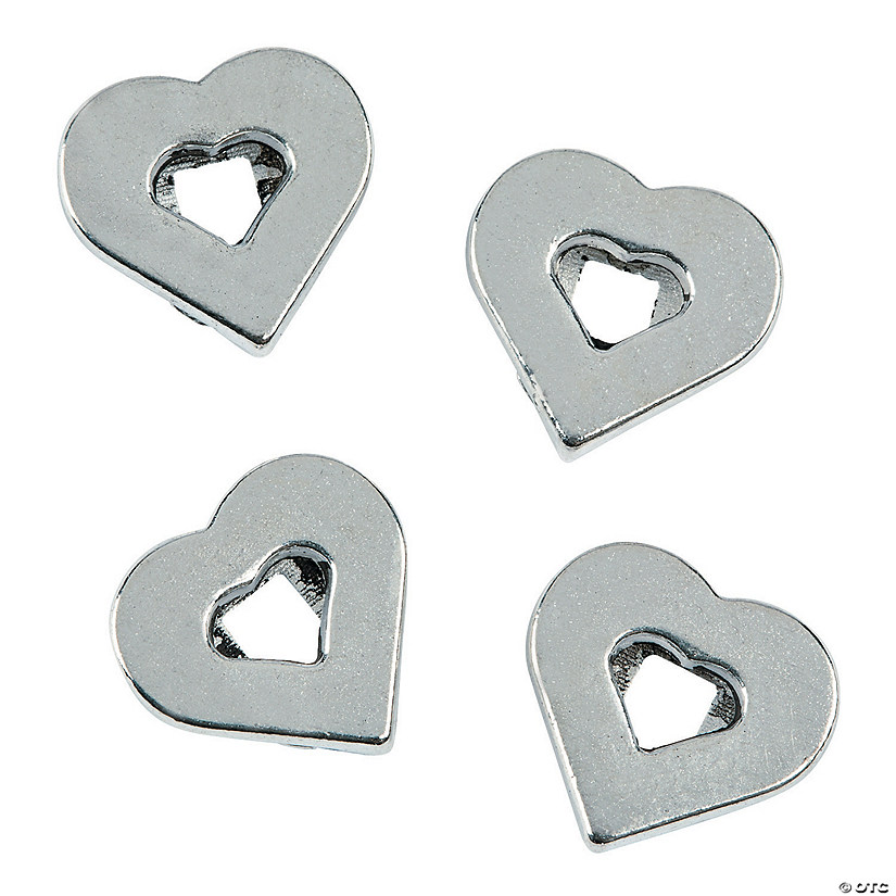 Small Heart Slide Charms - 6mm