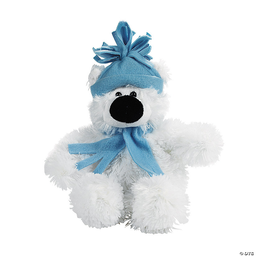 Small Holiday Stuffed Polar Bear Image Thumbnail