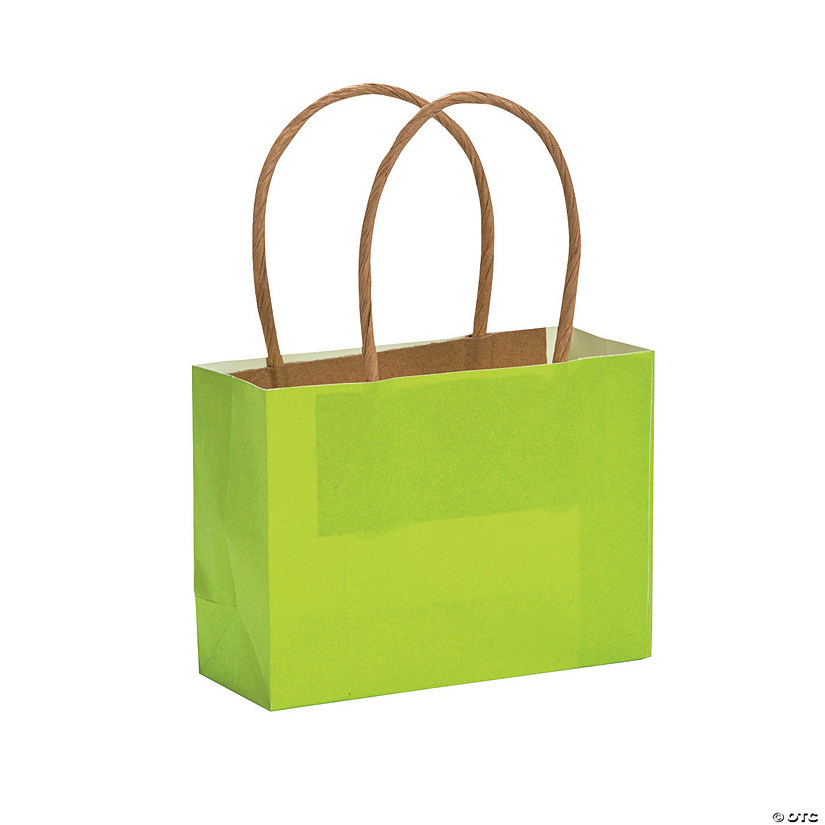 Small Lime Kraft Paper Gift Bags