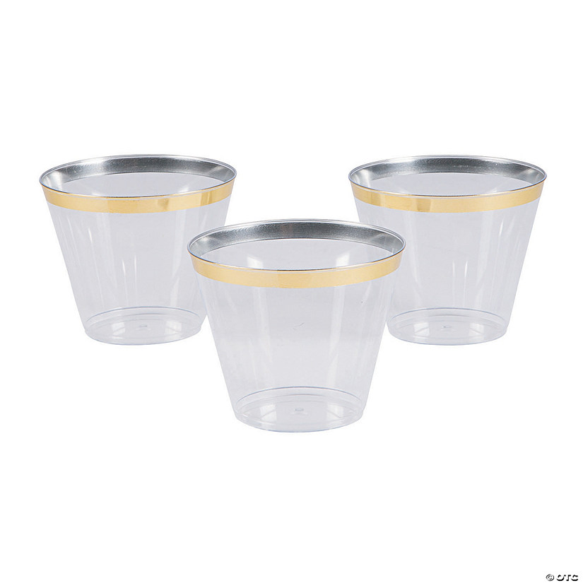 Small Plastic Cups with Gold Trim Audio Thumbnail