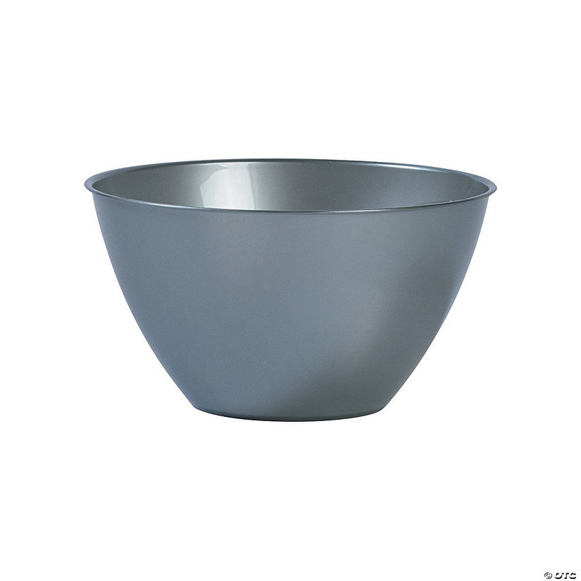 Small Silver Plastic Serving Bowl