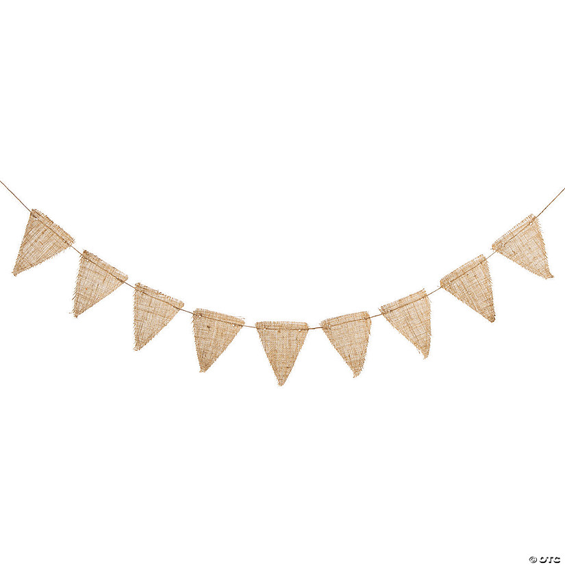 Small Triangle Pennant Burlap Garland