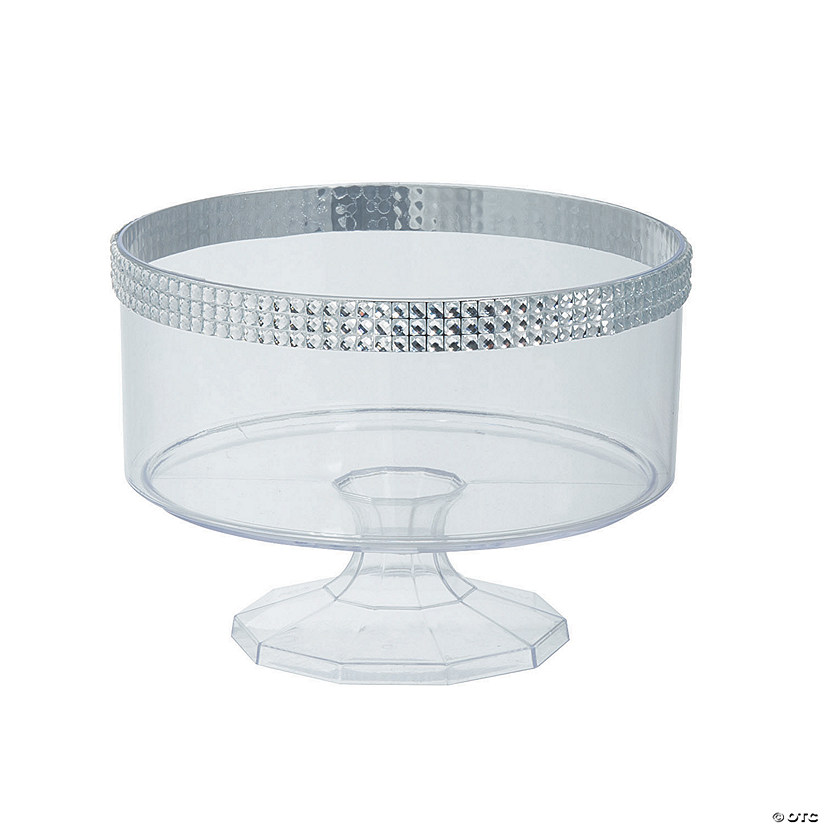 Small Trifle Container with Silver Gem Trim