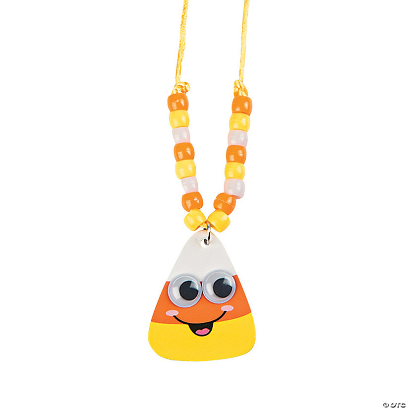Smile Face Candy Corn Beaded Necklace Craft Kit Audio Thumbnail