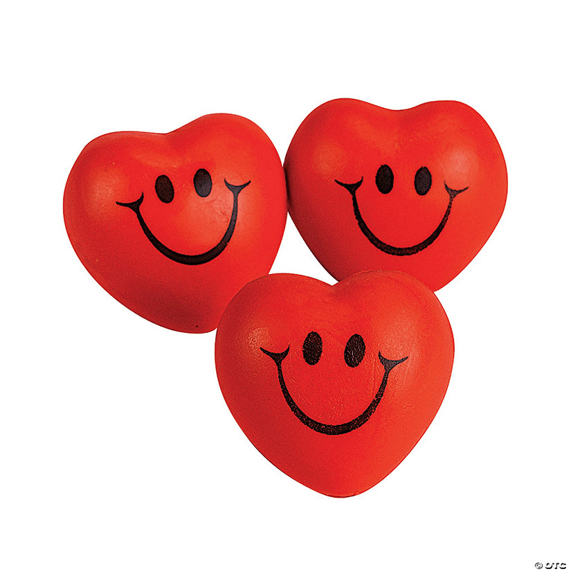 Smile Face Heart-Shaped Stress Balls Image Thumbnail
