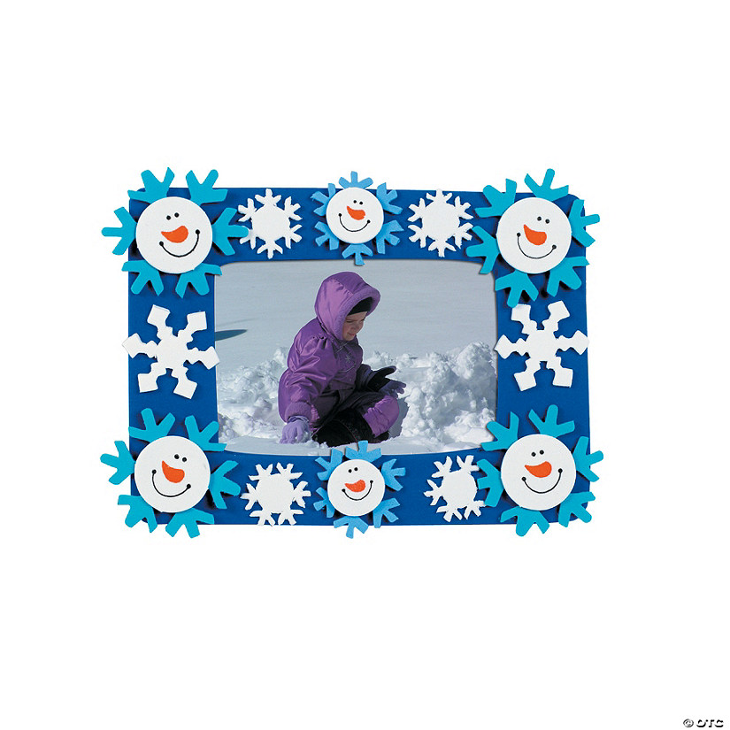 Smile Face Snowman Picture Frame Magnet Craft Kit Audio Thumbnail