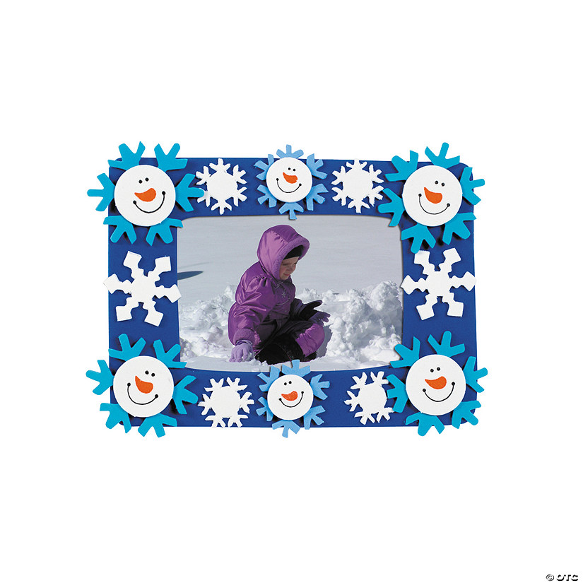 Smile Face Snowman Picture Frame Magnet Craft Kit Image Thumbnail