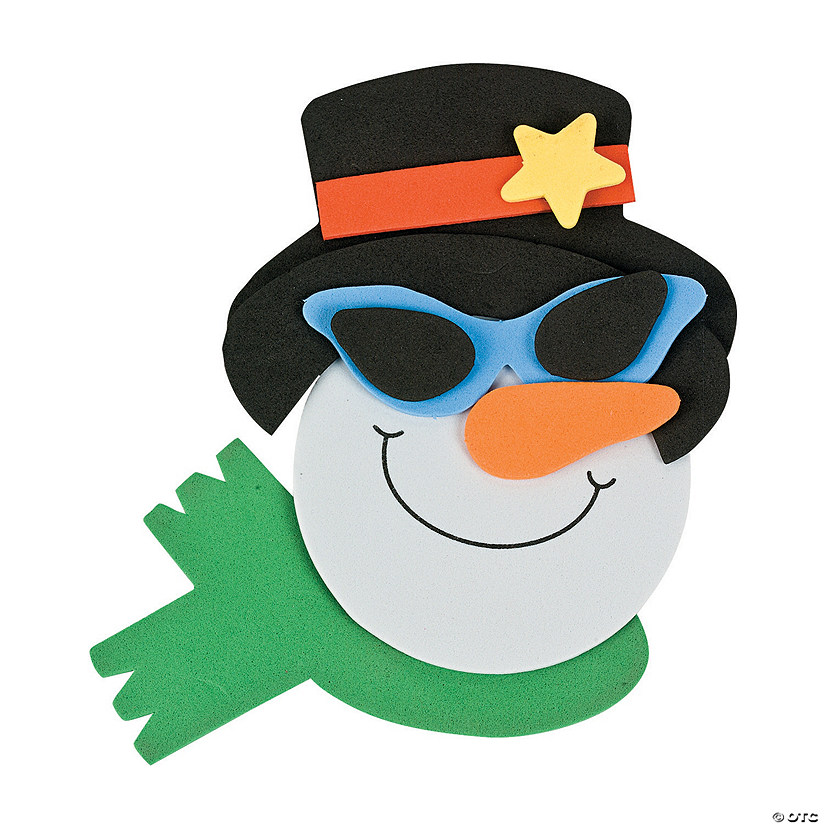 Smile Face Snowman with Sunglasses Magnet Craft Kit Audio Thumbnail