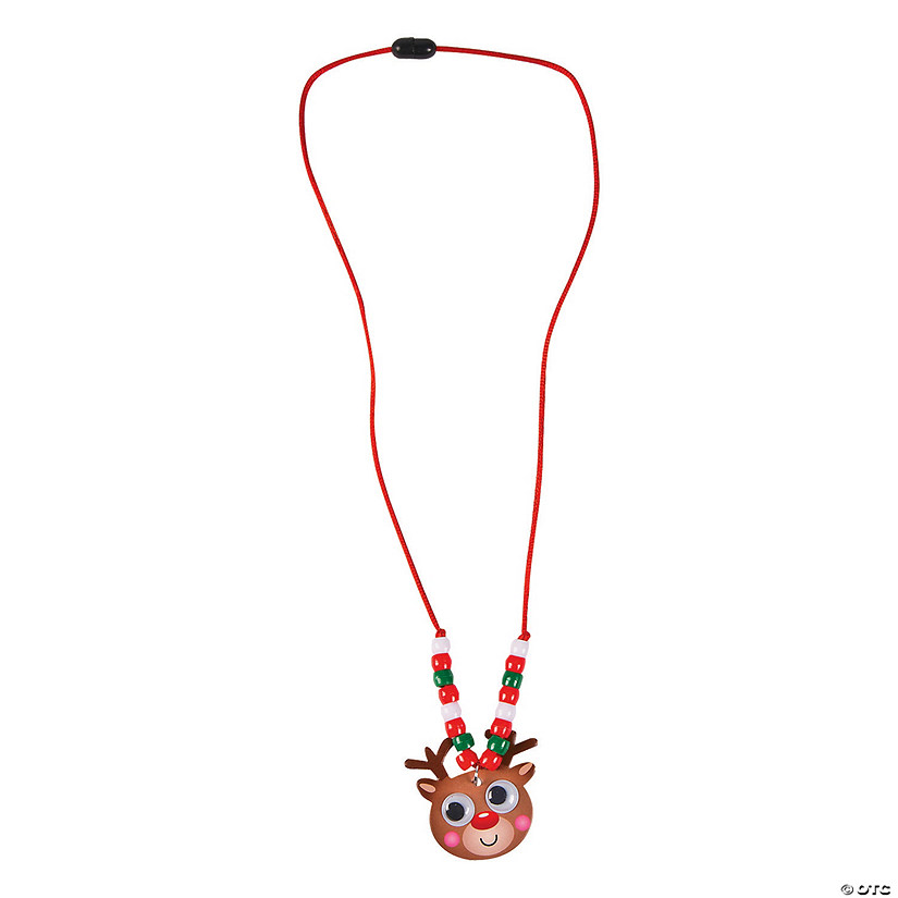 Smiley Reindeer Beaded Necklace Craft Kit Audio Thumbnail