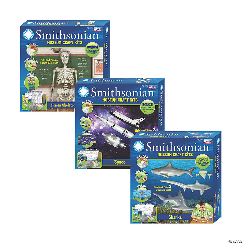 Smithsonian Craft Kits Set of 3