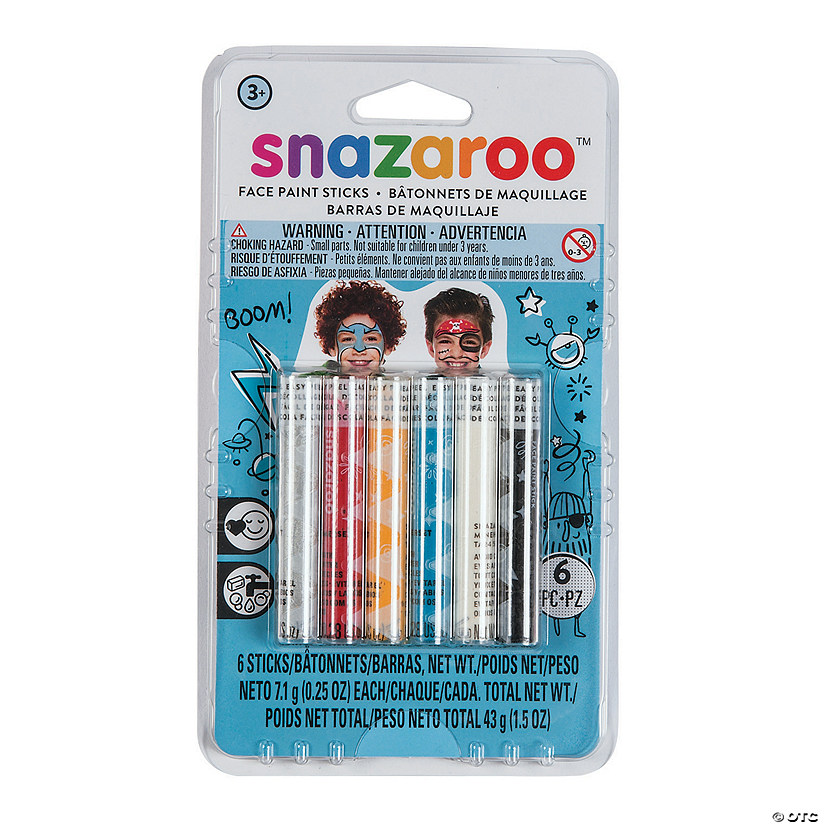Snazaroo™ Adventure Assorted Colors Face Painting Sticks - Set of 6 Image Thumbnail