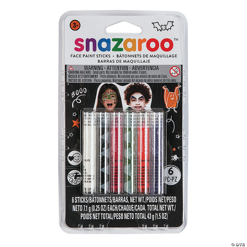 Snazaroo™ Halloween Assorted Colors Face Paint Sticks - Set of 6 Image Thumbnail