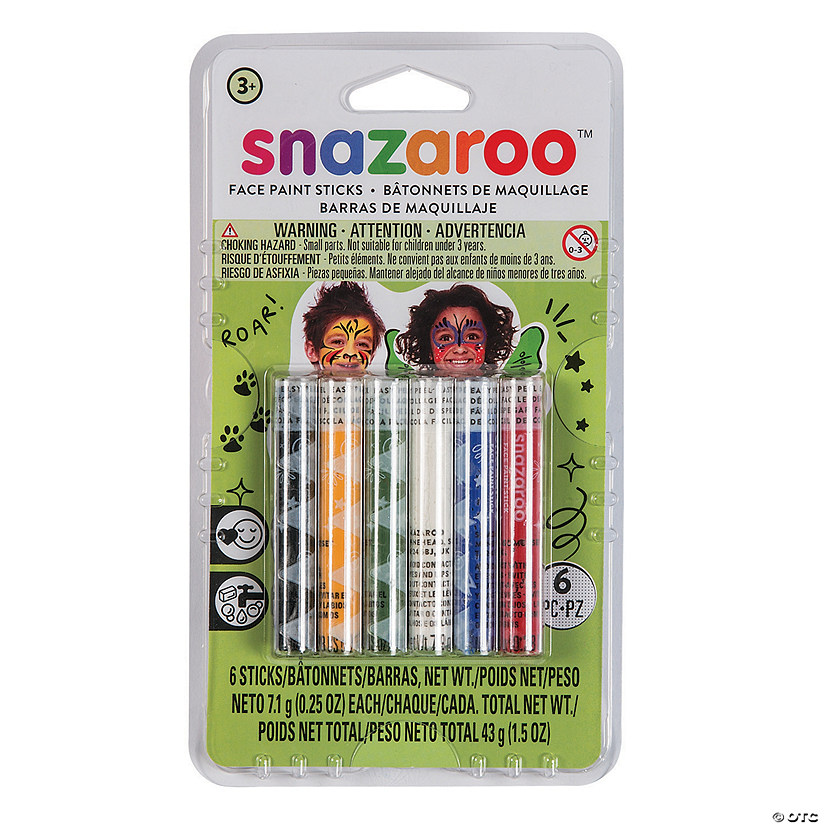 Snazaroo™ Unisex Assorted Colors Face Paint Sticks - Set of 6