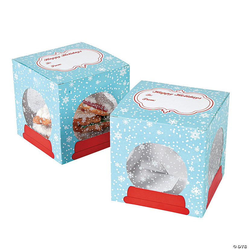 Snow Globe Cookie Boxes Image Thumbnail