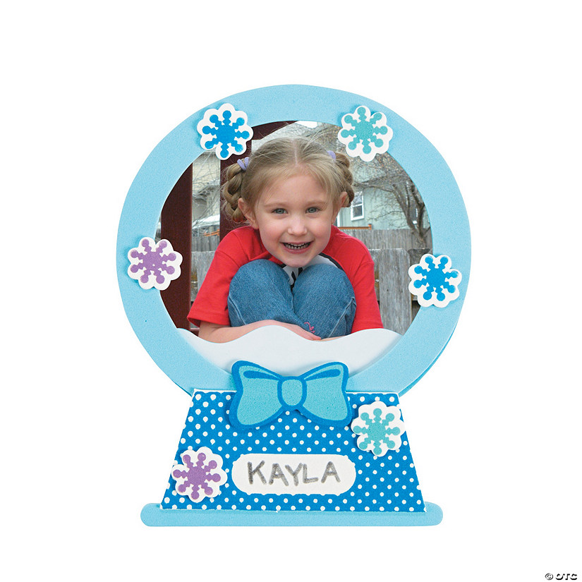 Snow Globe Picture Frame Magnet Christmas Craft Kit Audio Thumbnail