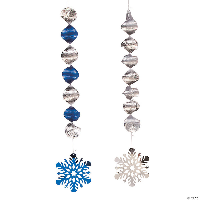 Snowflake Hanging Swirl Decorations - 12 Pc. Audio Thumbnail