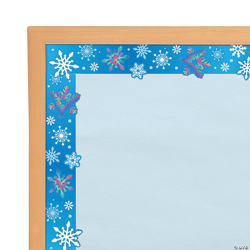 Snowflake Iridescent Bulletin Board Borders Audio Thumbnail