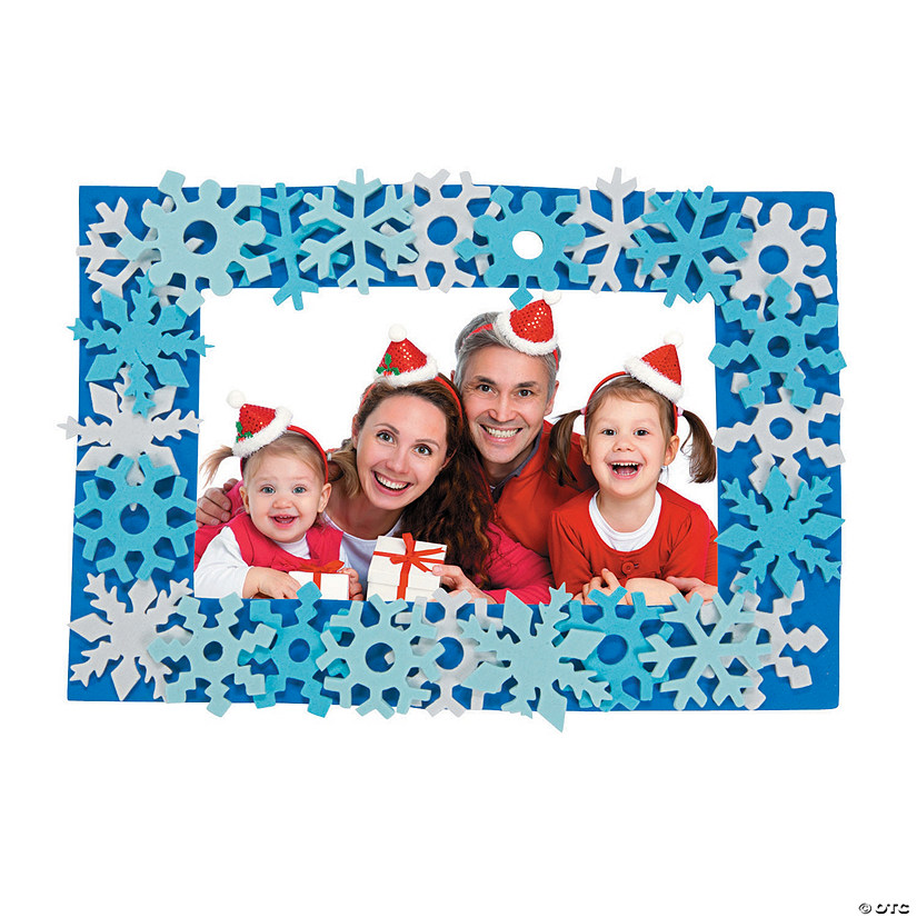 Snowflake Picture Frame Magnet Craft Kit Audio Thumbnail