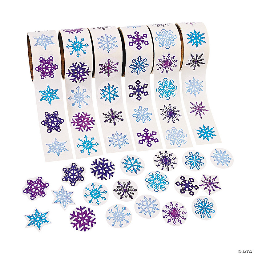 Snowflake Rolls of Stickers Assortment Audio Thumbnail