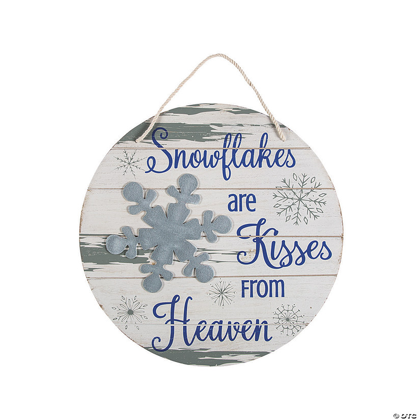 Snowflakes Are Kisses from Heaven Sign Audio Thumbnail